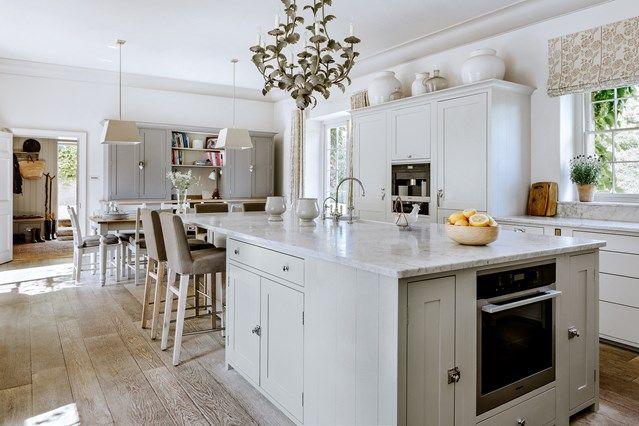 White Kitchen With Spring Decor