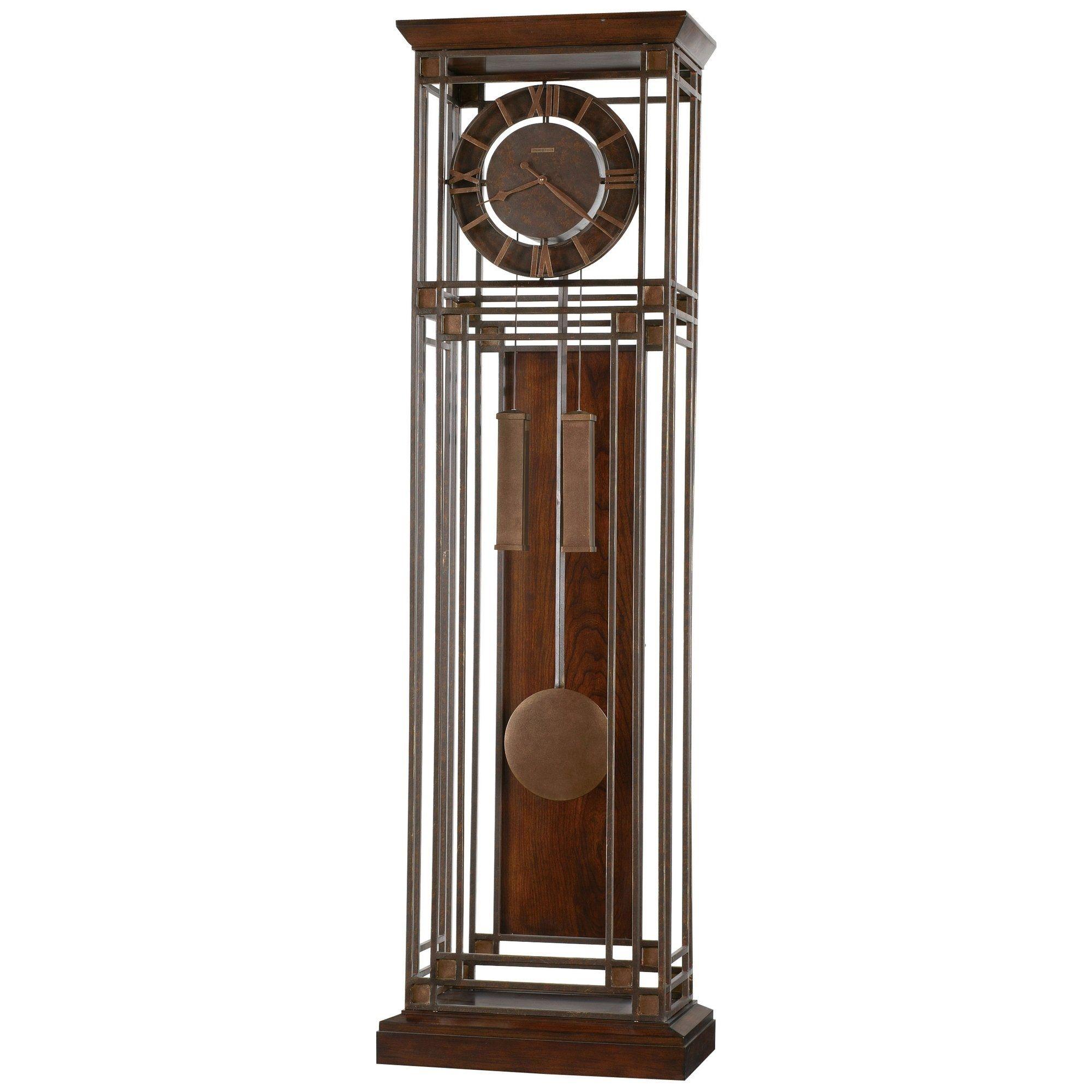 Howard Miller Tamarack Aged Ironstone Modern Grandfather Clock Style Standing Clock With Pendulum An Grandfather Clock Clock Modern Grandfather Clock
