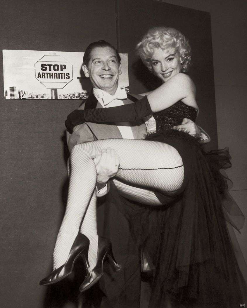 Marilyn Monroe at The Ringling Bros Circus. March 30, 1955