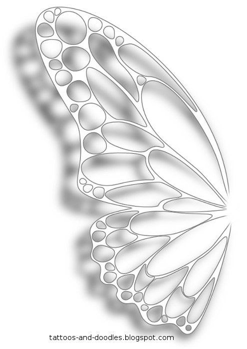 White ink butterfly wing tattoo concept. This is kinda the way I wanted my wings for my tattoo.