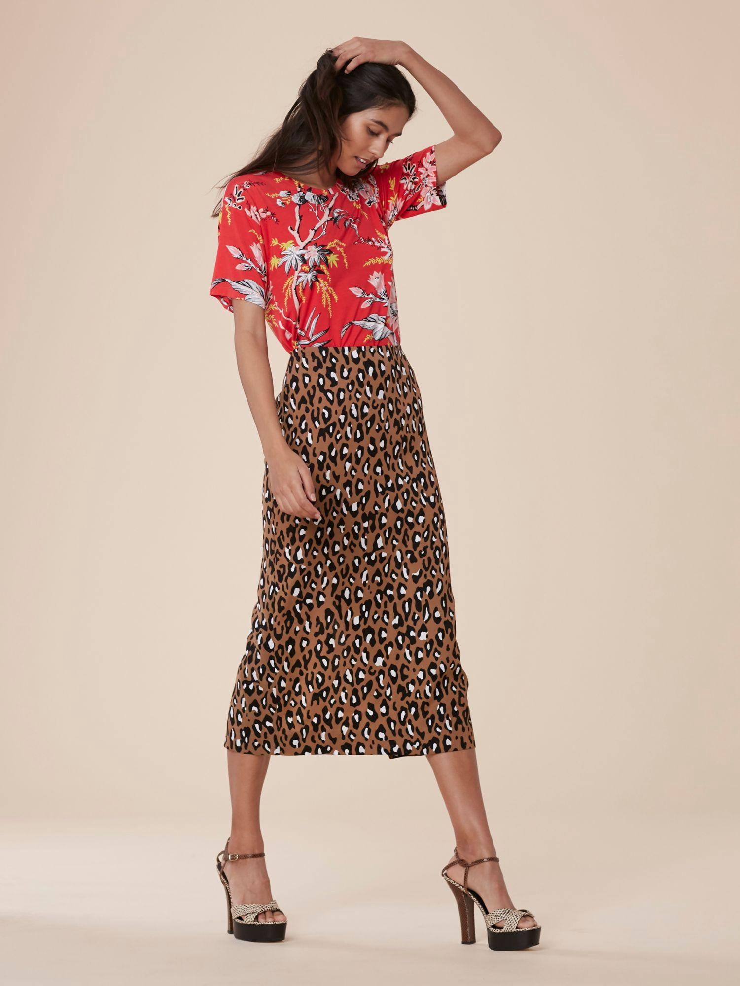 38c512a880 Diane Von Furstenberg Dvf Tailored Midi Pencil Skirt - Hewes Pearl ...