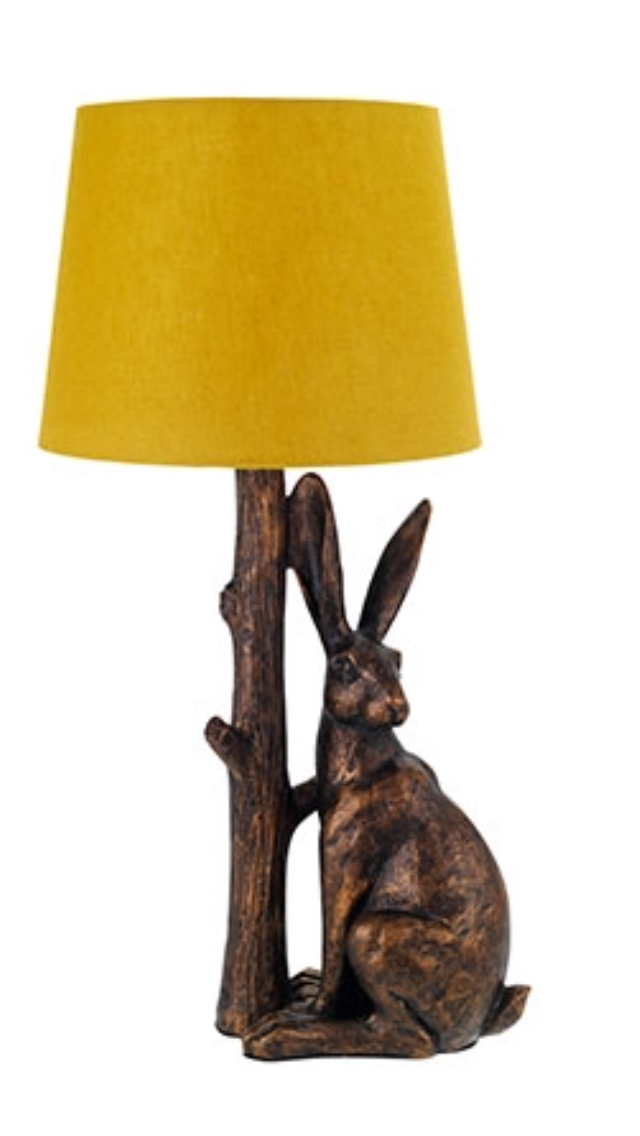 Good Sainsburys Hare Lamp With Ochre Shade | Woodland Walk