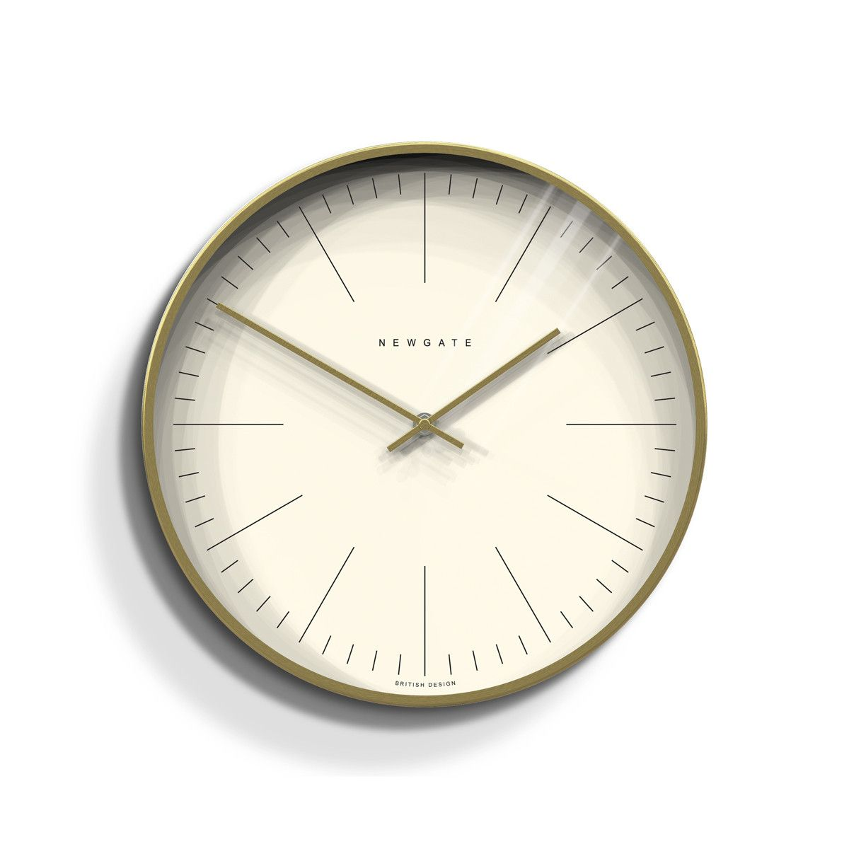 The Oslo A Contemporary Wall Clock With A Radial Brass Case And