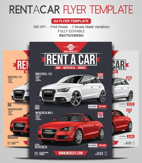 Rent A Car Flyer Yognel Pinterest Flyer Template And Template
