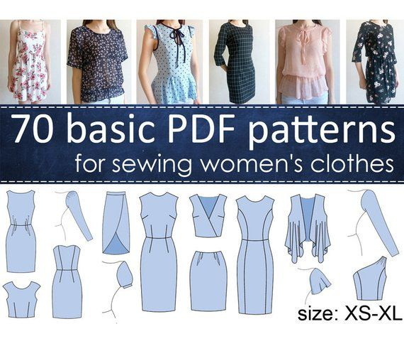 9f72e648a5a 70 basic PDF patterns for sewing women s clothes   Digital