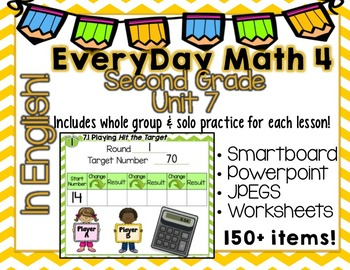 Everyday Math 4 Unit 7 English Grade 2 Smartboard Powerpoint Worksheets Everyday Math Smart Board Math