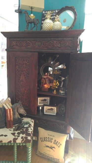 Great repurpose piece.....make it a bar cabinet.