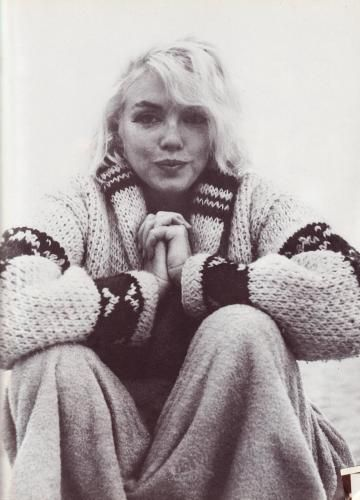 """""""Marilyn Monroe's Sweater"""" by George Barris  believed to be the last shot of this famous icon"""