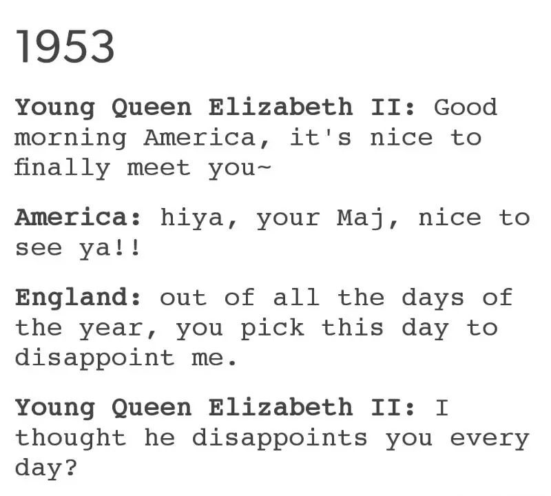YESSSS! -- England, America and Queen Elizabeth II Funny Hetalia - meeting memo