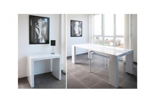 Console extensible laqué blanc mayline déco design et table console sur declik deco vente de meuble design deco design deco pas cher et mobilier design