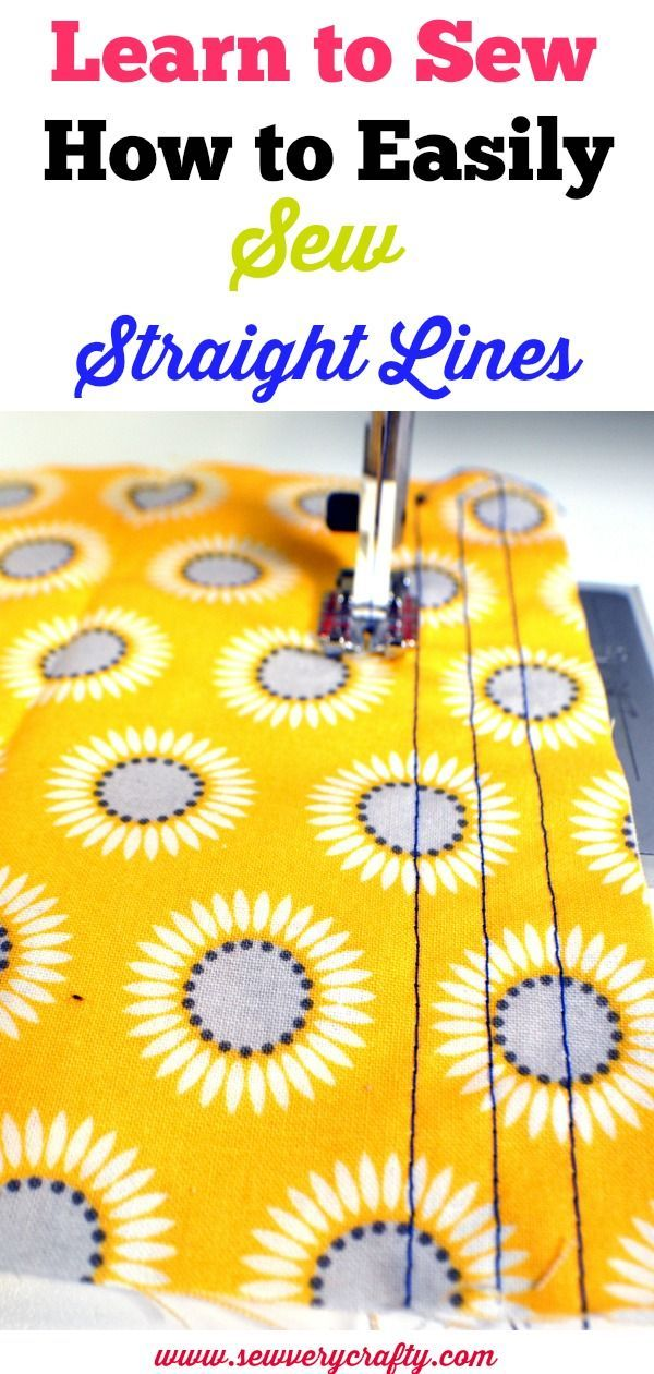Learn to Sew: How to Easily Sew a Straight Line #sewingbeginner