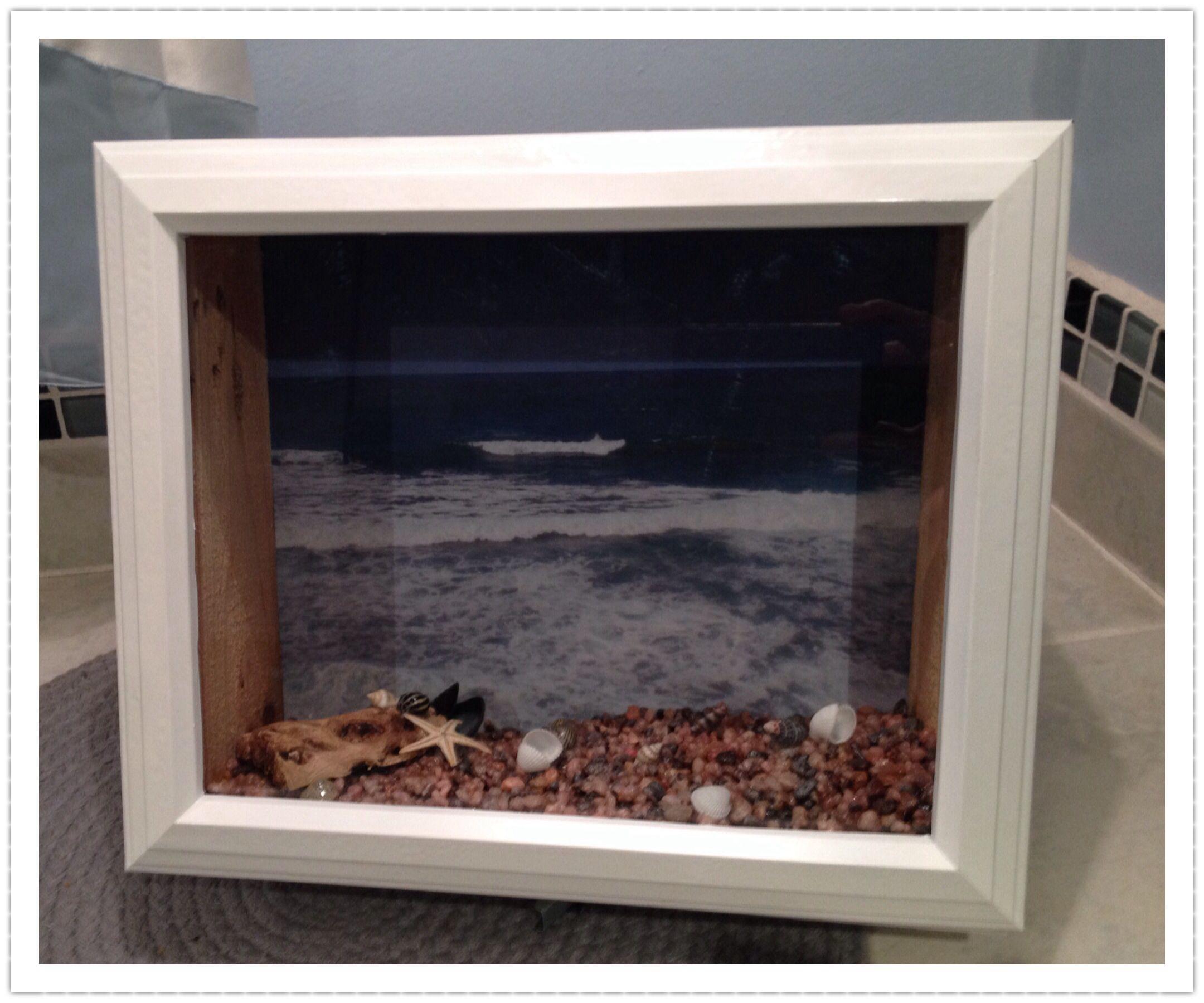 Beach Themed Shadow Box Ideas: Beach Theme Shadow Box, For More Info To Purchase @Etsy
