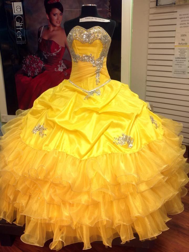 e46a1febd71 Yellow Quinceanera Dresses