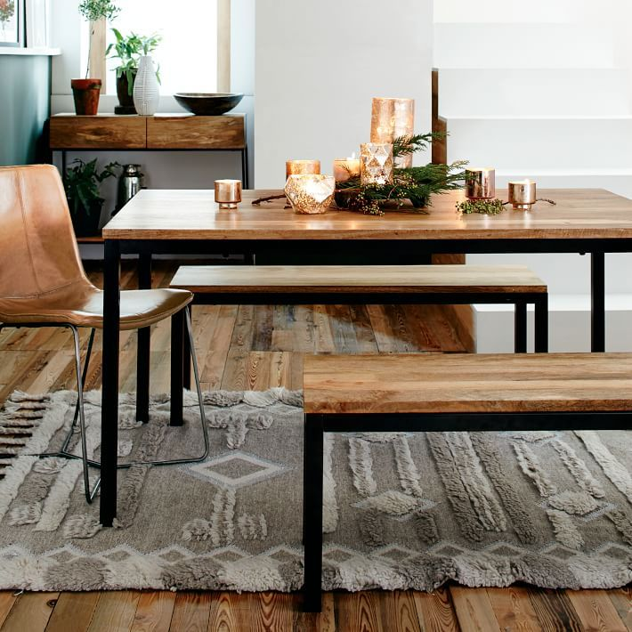Box Frame Dining Table Dining Table With Bench Dining Table Industrial Decor Kitchen