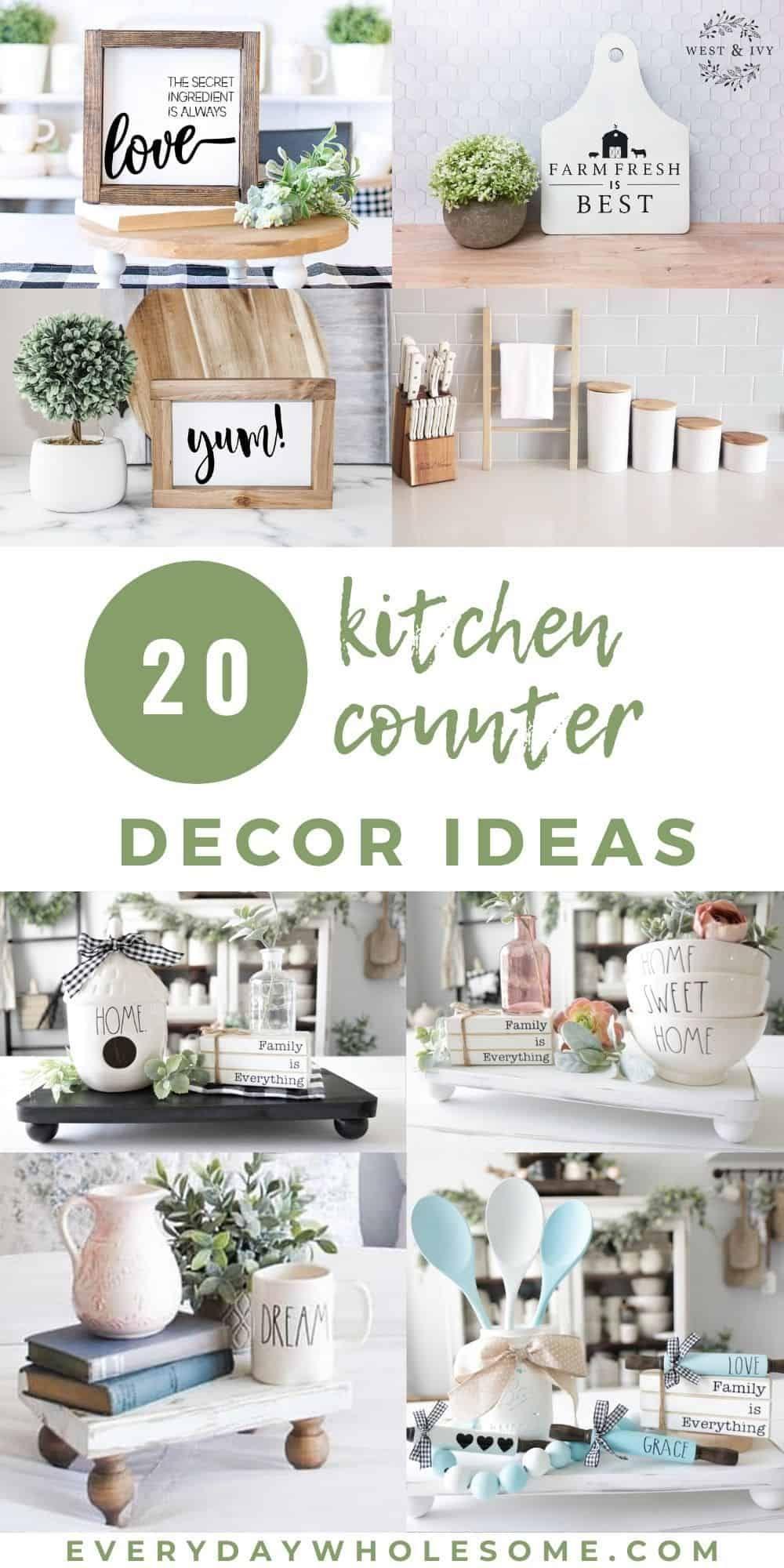 20 Kitchen Countertop Decor Ideas