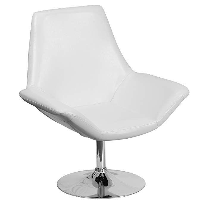 Flash Furniture HERCULES Sabrina Series White Leather Side Reception ...