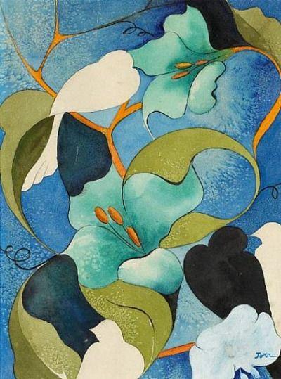 Stilllifequickheart Helen Torr Doves Amongst Flowers C 1930 39