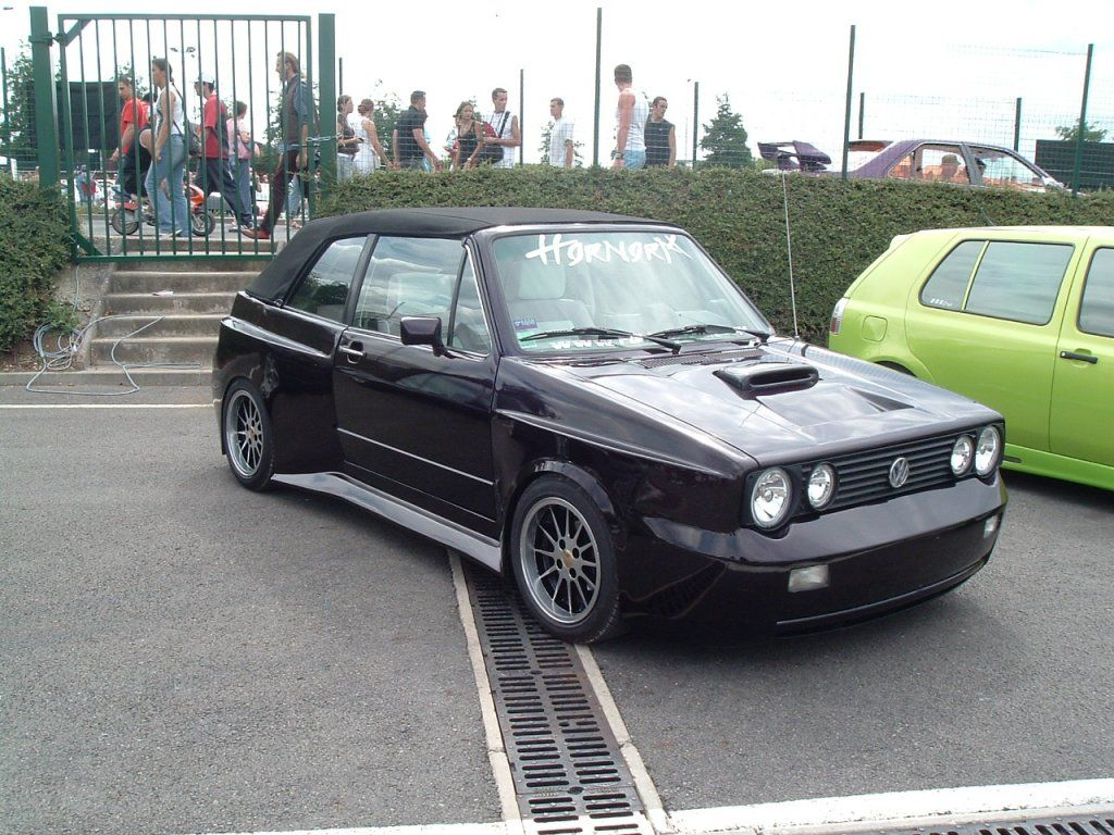 black vw golf cabriolet mk1 mega tuning vw golf. Black Bedroom Furniture Sets. Home Design Ideas