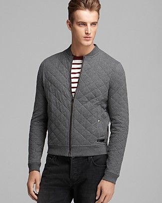 Burberry Brit Marvel Quilted Cotton Bomber Jacket | Bloomingdale's