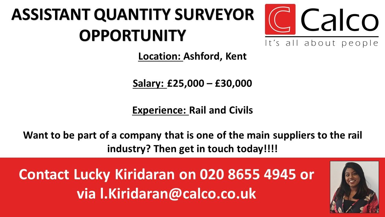 Are You An Assistant Quantity Surveyor Based In Or Close To