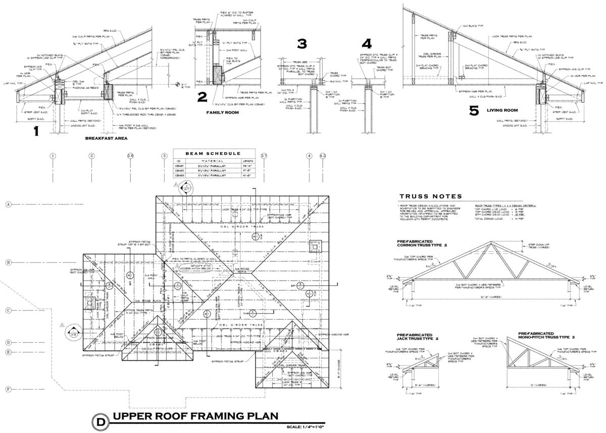 Flat roof construction plans the image for Flat roof plan drawing