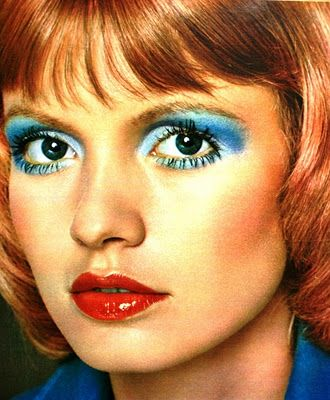Example Of 1971 Blue Eyeshadow Disco Makeup Retro Makeup