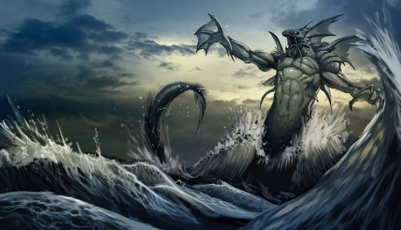Sea Monster Computer Wallpapers Desktop Backgrounds 1440x876 Id 353196 Sea Monsters Fantasy Creatures Creatures