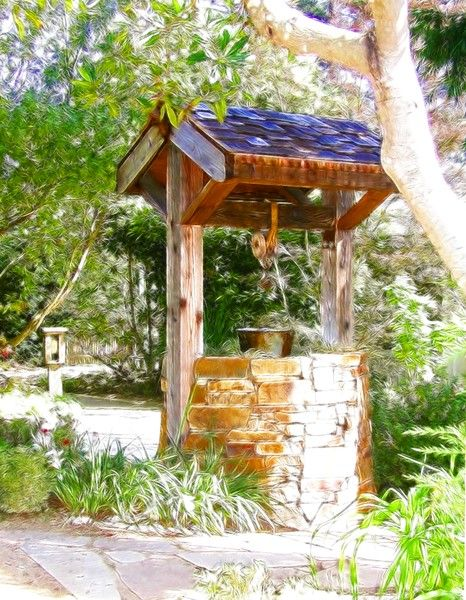 Wishing Well Cambria Pines Lodge With Images Watercolor