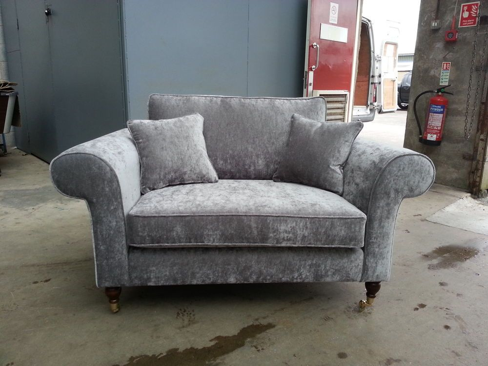 Elegant BESPOKE 2 SEATER SOFA SILVER /GREY VELVET. VARIOUS COLOURS
