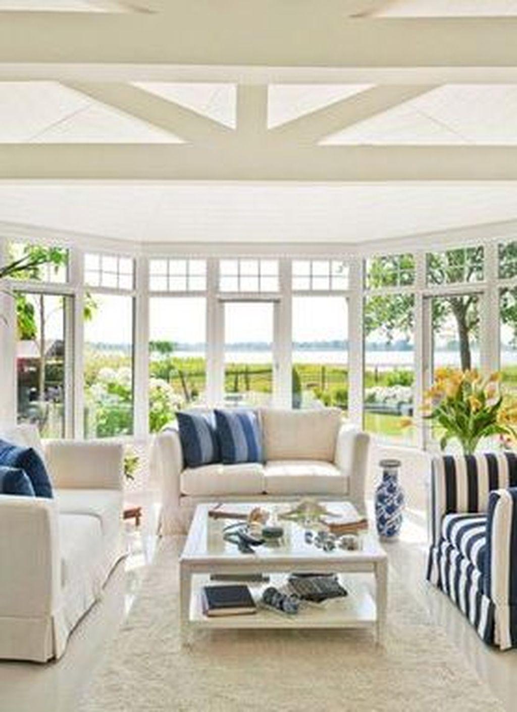 43 Perfect White Sunroom Design Ideas That Look So Awesome Sunroom Designs White Sunroom Design Awesome sunroom design ideas