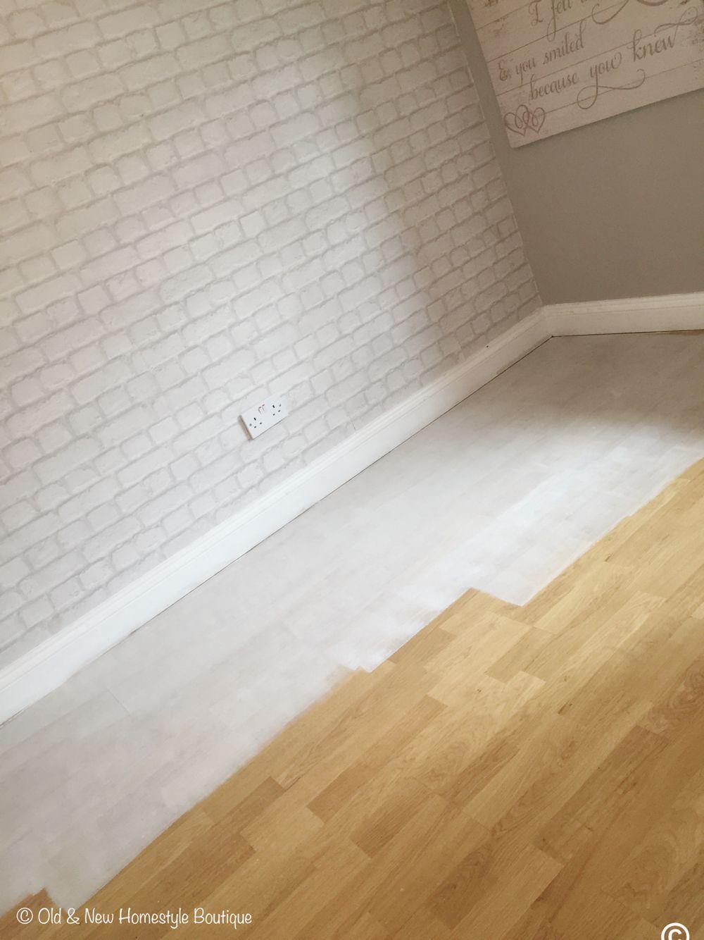 Quick N Easy Chalk Paint On Laminate Flooring Bye Bye Pretend Pine Planks Hello White Floorboards Painting Laminate Floors Laminate Flooring Flooring