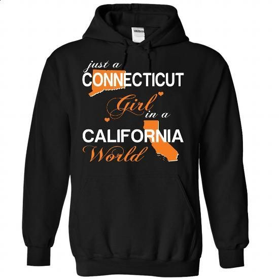 CONECTICUT GIRL IN CALIFORNIA - #superhero hoodie #hoodie zipper. I WANT THIS => https://www.sunfrog.com/Valentines/CONECTICUT-GIRL-IN-CALIFORNIA-Black-Hoodie.html?68278