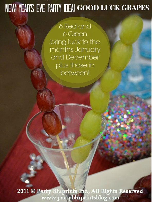 Easy New Year S Eve Party Idea Good Luck Grapes The Party Bluprints Blog Plantoparty Eve Parties Newyear New Years Eve Party