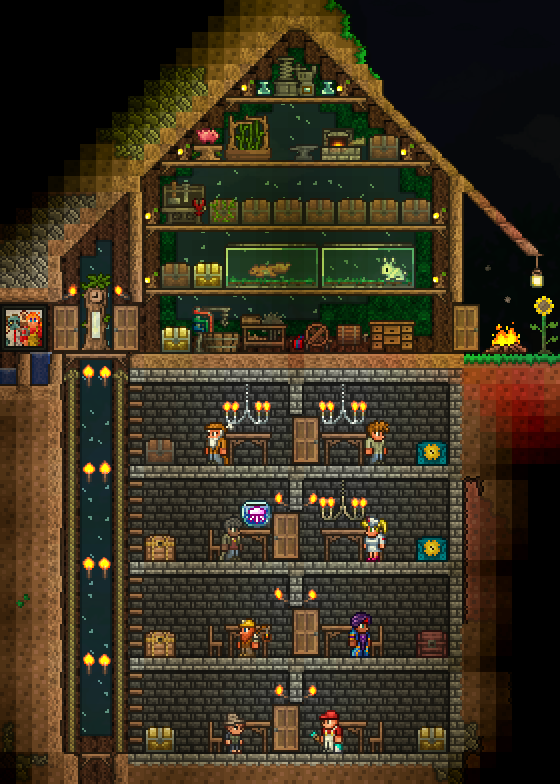 R Terraria A Little House Early In The Game What Do You Guys