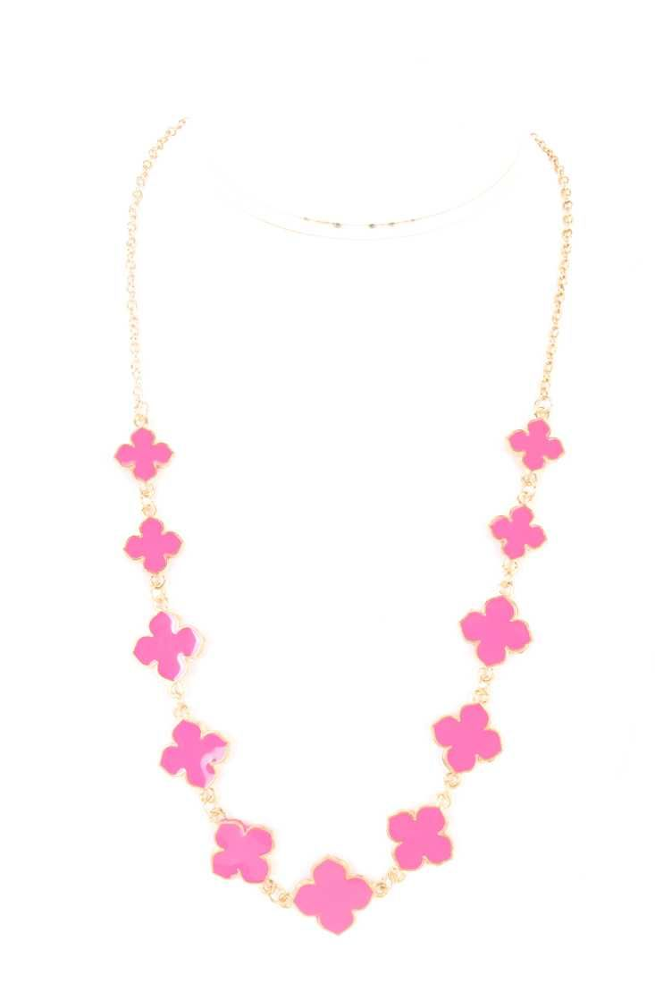 #FashionVault #kandy kouture #Women #Accessories - Check this : Fuchsia Lacquer Finished Floral Pendants Necklace for $19.99 USD instead of $5.99 #OnSale
