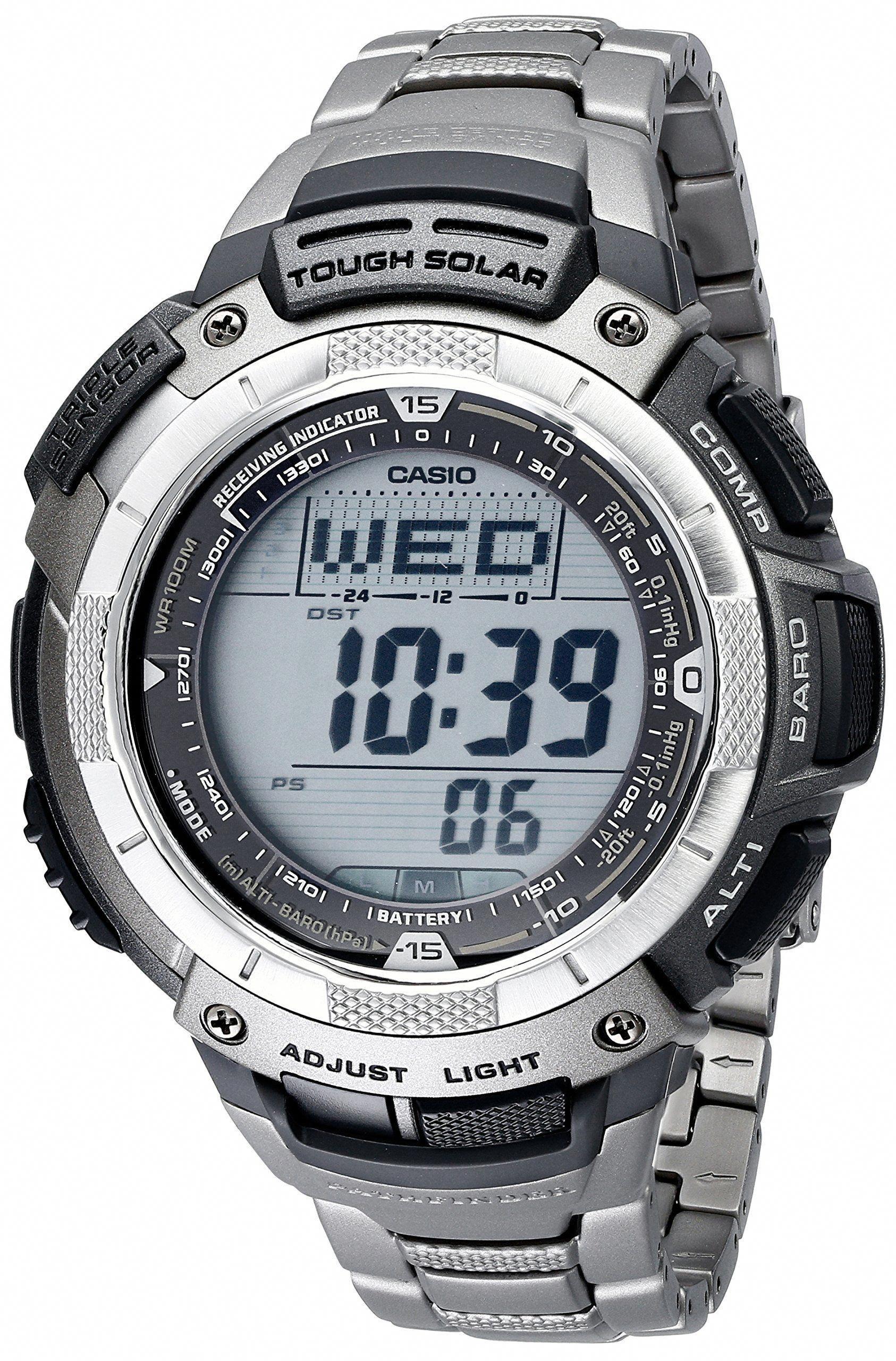 Casio PAW1100T-7V Pathfinder Altimeter and Barometer Solar Atomic Digital  Watch for Men d6ca641df3e