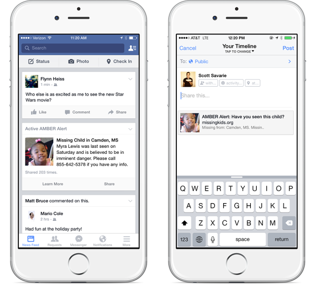 Amber Alerts on Facebook - Get Advice From Facebook On Security, Privacy, Amber Alerts and More