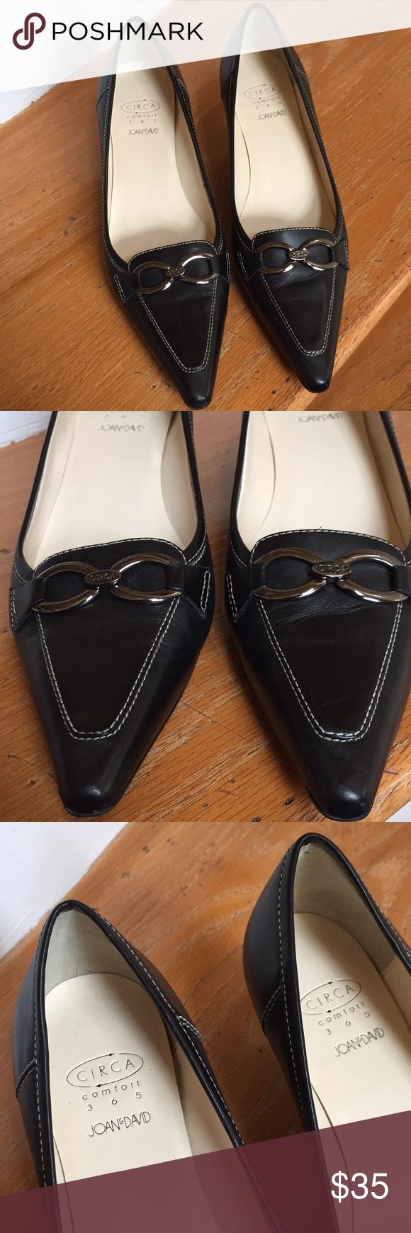Circa Comfort 365 Joan David Elegant Grace Kitten Heel Pumps Joan And David Shoes Metallic Logo
