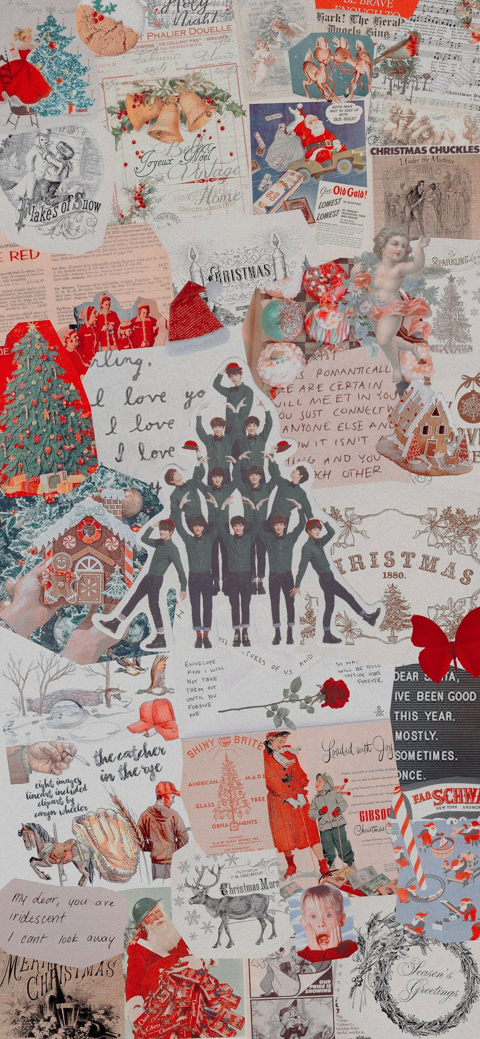 16 christmas wallpaper collage ideas