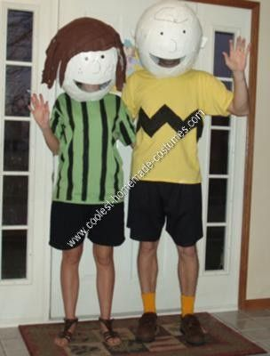 Coolest Homemade Charlie Brown And Peppermint Patty Couple Costumes Charlie Brown Costume Charlie Brown Halloween Peanuts Halloween Costume