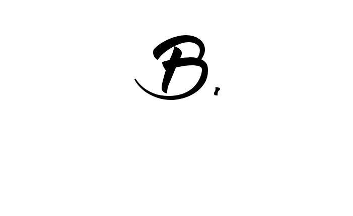 Tatuagem do nome B. utilizando o estilo Wolf in the City Light Regular