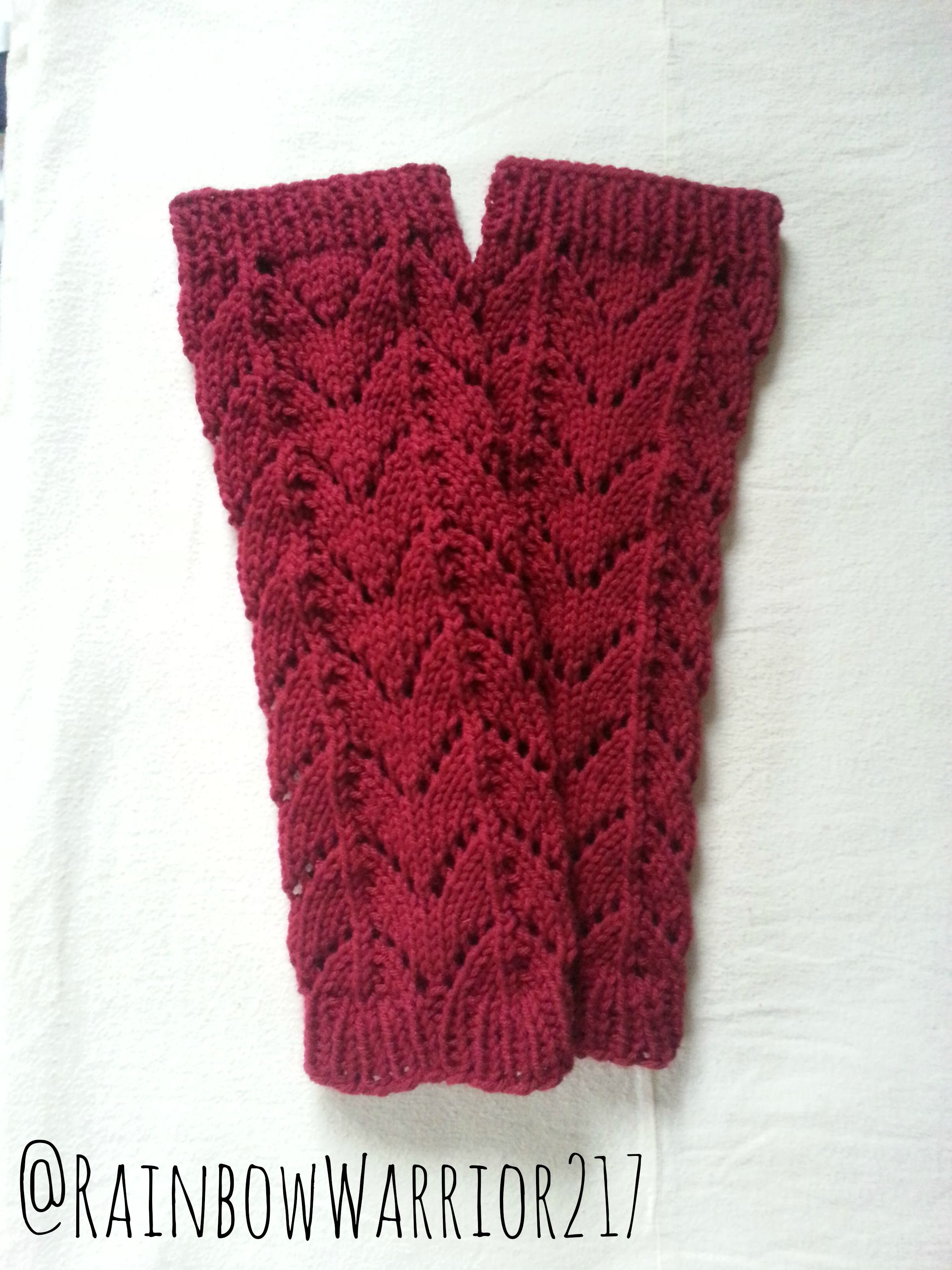 Lace Leg Warmers | Knit Pattern | Knitting Accessories Tutorial ...