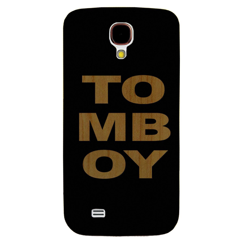 TOMBOY- Laser Engraved Wood Phone Case (Maple,Cherry,Black,Cork)