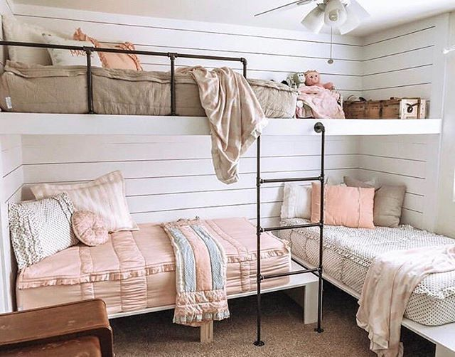 Wow Isn T This Set Up Amazing Beddy S Are Perfect For Those Difficult Beds That Are Up Against The Wall An Modern Bunk Beds Kids Bunk Beds Built In Bunks