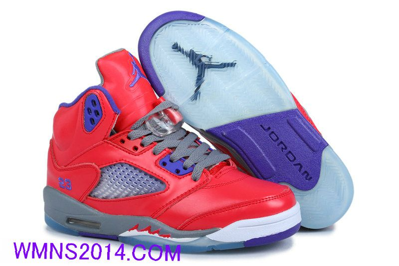 58.9099 Air Jordan 5 Womens Red Purple Grey Womens Jordan Shoes Over 55%  off e6367b6500