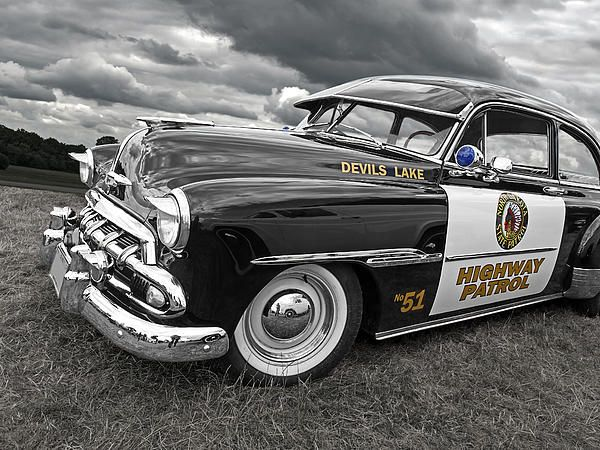 Almost worth getting pulled over! Great 1951Chevrolet Highway Patrol American muscle car. #americanmuscle #musclecars