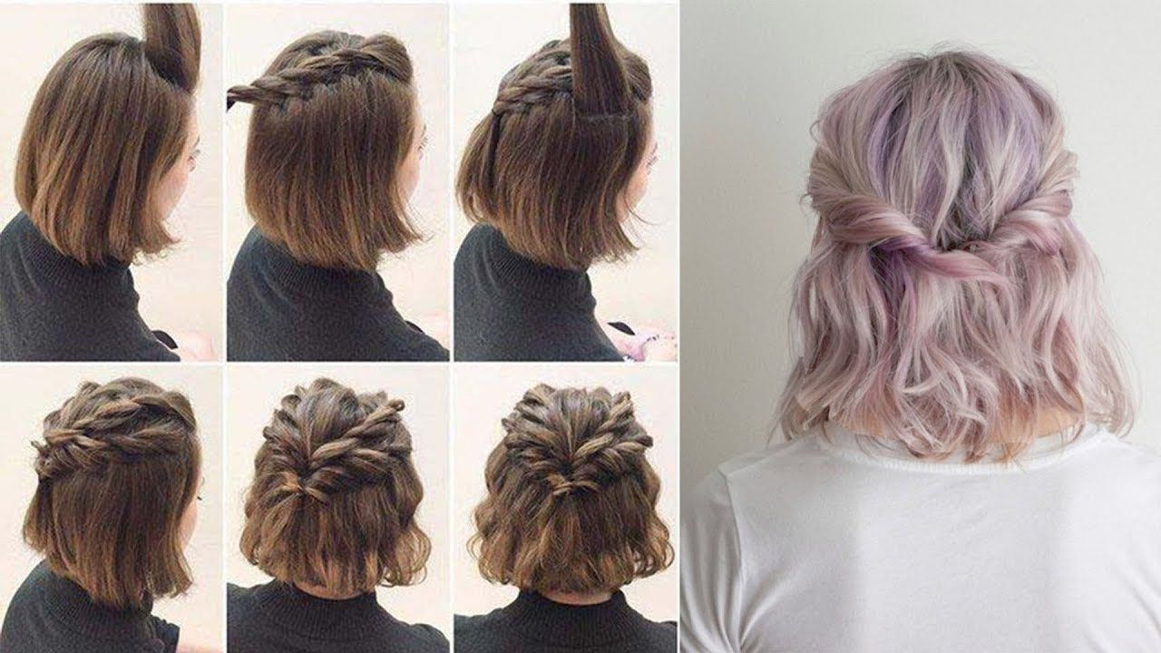 Easy Half Up Hairstyles For Short Hair Tutorial Short Hair Tutorial Half Up Hair Hair Tutorial