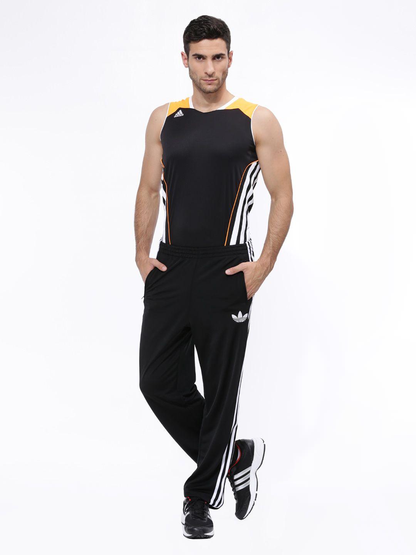 Adidas Originali Uomini Neri Dga Firebird Tp Pantaloni Della Tuta Maschile