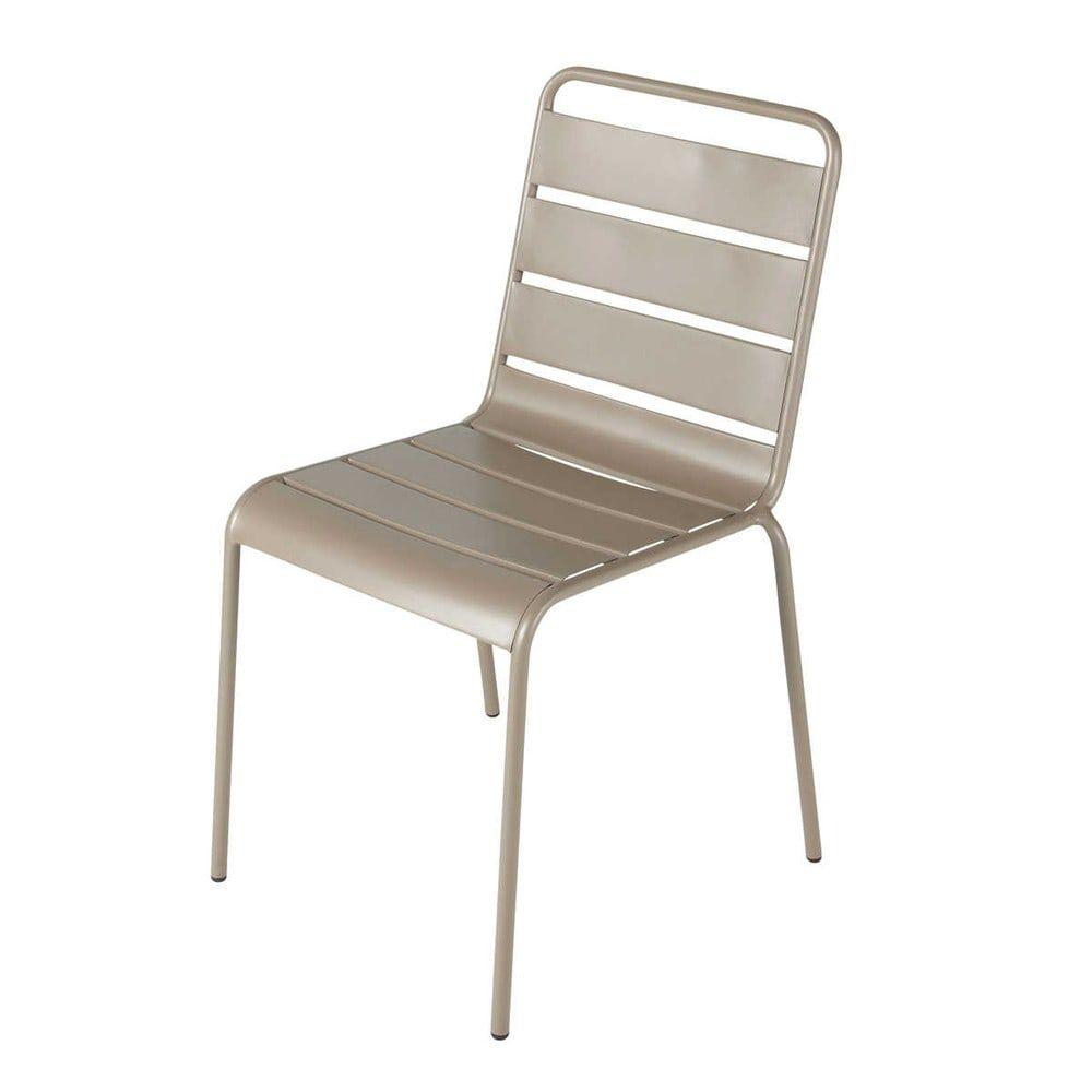 Chaise de jardin en métal taupe | Products | Garden chairs, Metal ...