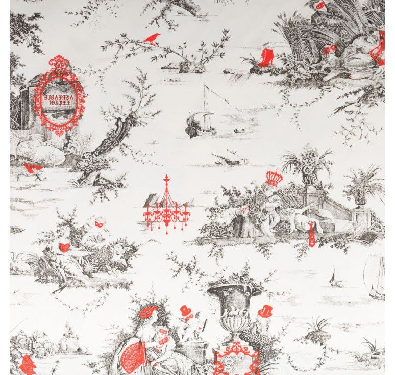 Beutiful Toile De Jouy With A Modern Touch, A Second Screen Of Color. Part 49
